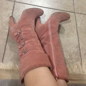 Marc Jacobs Shoes - Marc Jacobs pink suede boots size 6