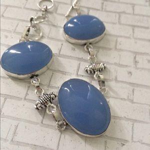 Jewelry - 🎀STERLING SILVER STAMPED 🎀CHALCEDONNY Bracelet