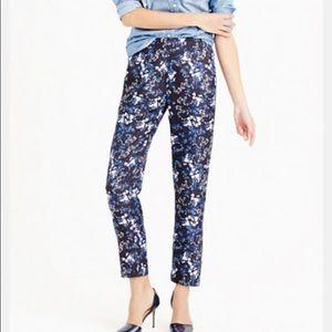 Jcrew silk trouser in nightfall