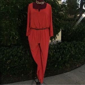 Fab red plus size jumpsuit
