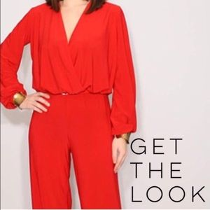 CSC Pants - Fab red plus size jumpsuit