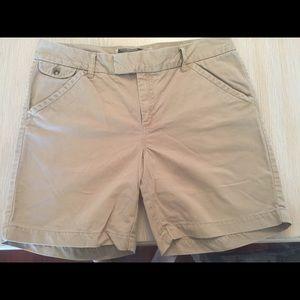 Khaki chino shorts from Old Navy