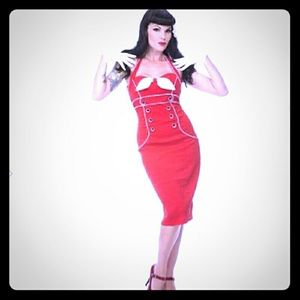 Voodoo Vixen Dresses & Skirts - Rockabilly RED wiggle dress pin up💕 🍒