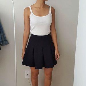 Bar III high waisted black full skirt