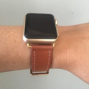 🌟GOLD Apple Watch Leather Replacement Band Strap