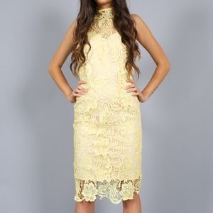 Southern Girl Fashion Dresses & Skirts - LACE DRESS High Neck Fitted Floral Bodycon Party