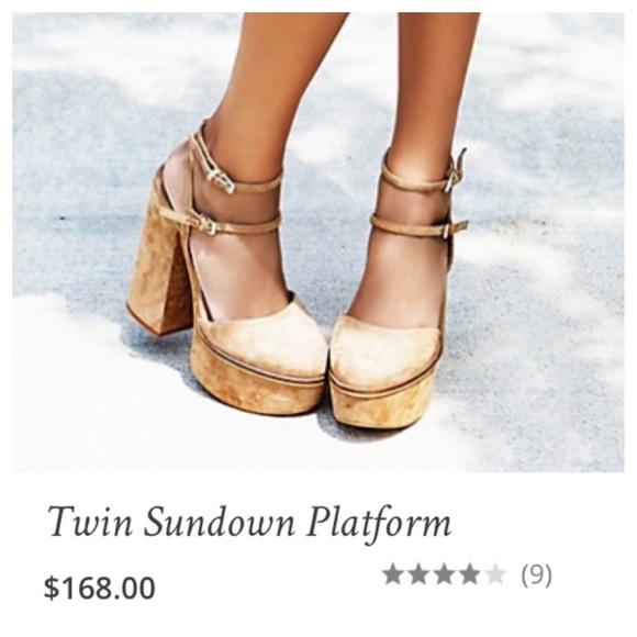 1978e25d8e1c Free People Shoes - Free People twin sundown platform suede shoes
