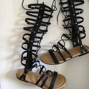 Mix No. 6 Black Gladiator Sandals size 8 new