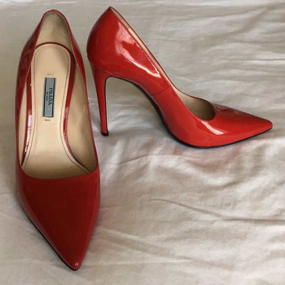 Prada Shoes   Prada Red Heels   Poshmark