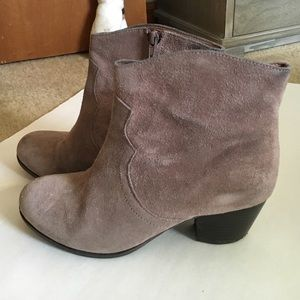 lucky brand suede booties size 8