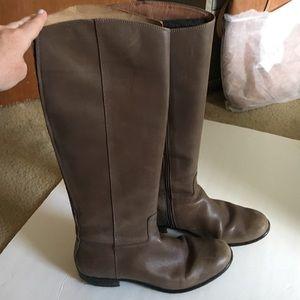 Corso Como knee high brn leather boots 8