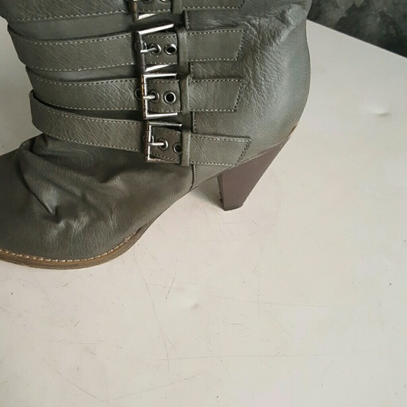 Model WOMENS GREY COMBAT MILITARY WORK ARMY BOOTS SIZE  EBay