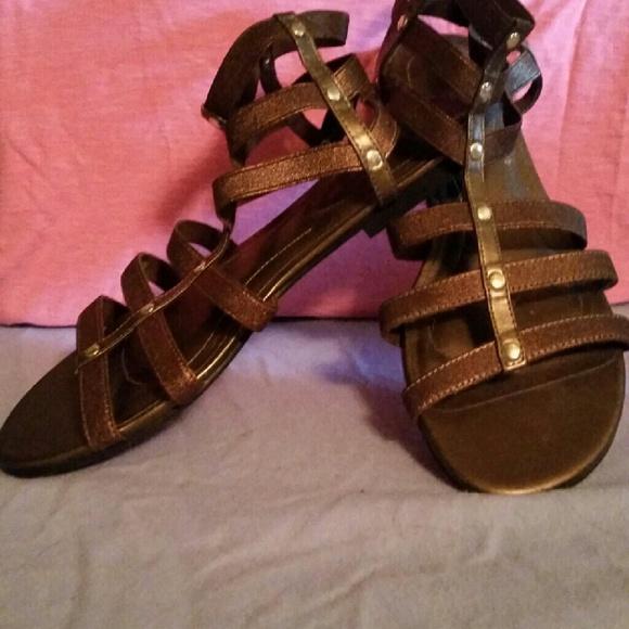 9ded07ea793f Dex flex comfort shoes bronze colored stretchy strappy gladiator jpg  580x580 Dexflex sandals