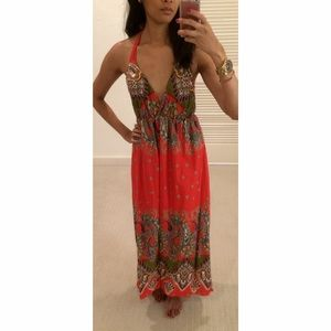 Other - Brand New Thailand Halter Backless Maxi Dress