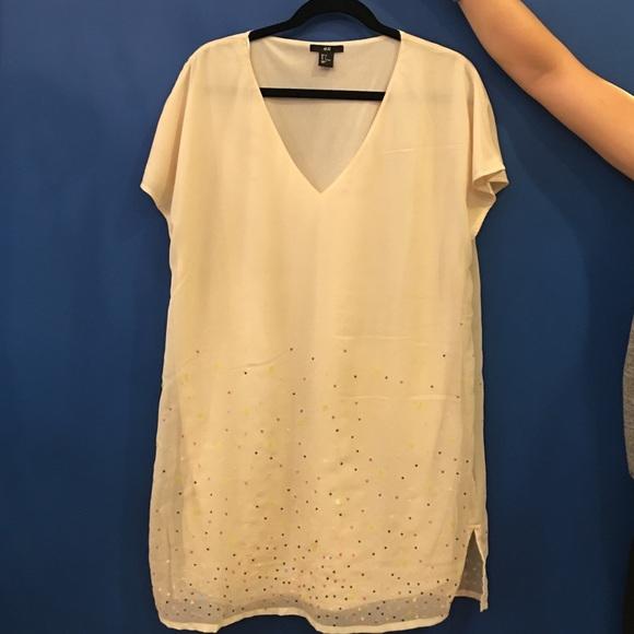 H&M Dresses - H&M Sequin Shift Dress Size 4