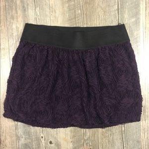 Torrid purple floral design skirt
