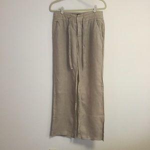 Zara wide leg linen pants