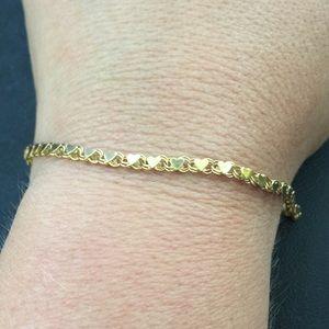 Beverly Hills Gold Jewelry 14k Yellow Gold Designer Mirrored Heart