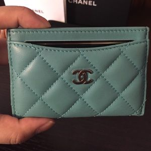 8367cd6ad8205b CHANEL Accessories | Turquoise Card Holder | Poshmark