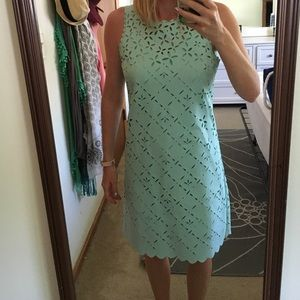 J.Crew teal cut out dress altered to fit sz 2/4