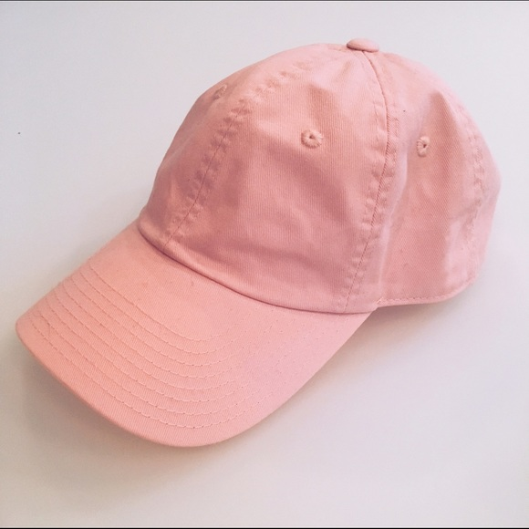 4220344768d Urban Outfitters Accessories - UO Washed Canvas Baseball Hat- Light Pink