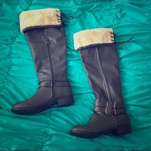 Just fab Tall gray boots