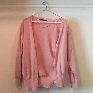 Zara Knit Pink Cardigan