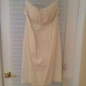 Catherine Malandrino white strapless dress