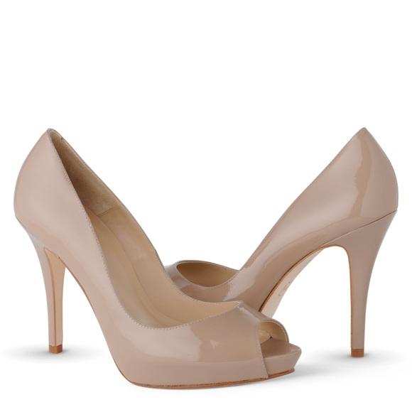 c0e000700262 LK Bennett Shoes - LK Bennett Nude Idina Platform PeepToe Court Heels