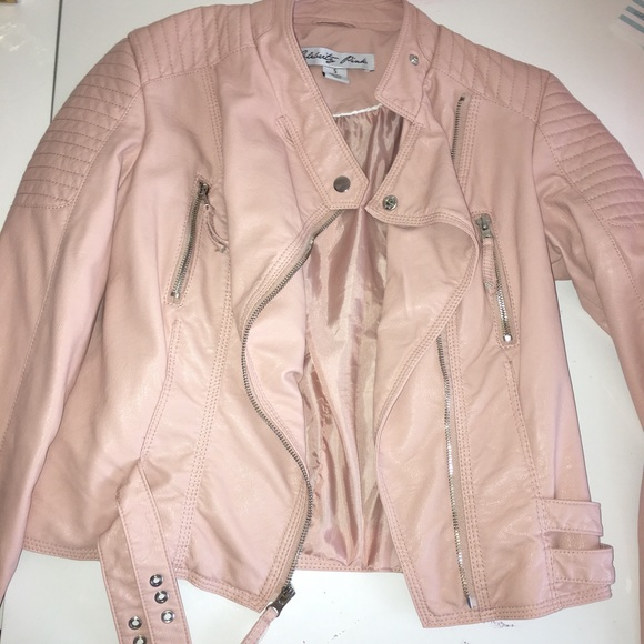 45% off Celebrity Pink Jackets & Blazers - Pink Leather Jacket ...