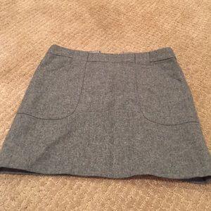 Nwot J. Crew grey wool lined skirt