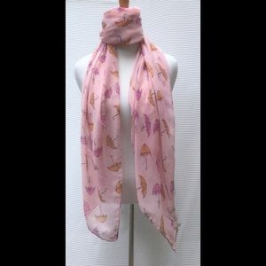 Accessories - New Pink Umbrella Scarf