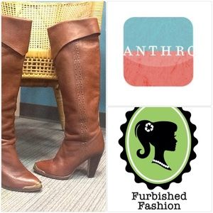 Anthropologie Leather Boots
