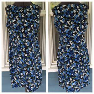 CDC Blue Floral Sheath Dress