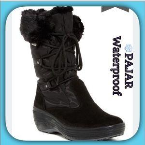 Pajar Brand NEW Black Faux Fur Weatherproof Boots