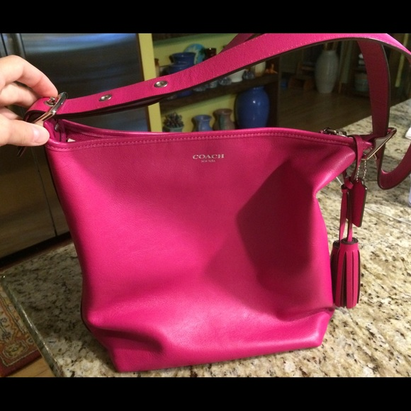 ca6f4aa65b ... coupon code for coach legacy duffle bag hot pink leather purse cd9e5  0a576