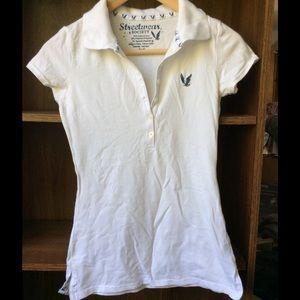 Tops - White polo shirt