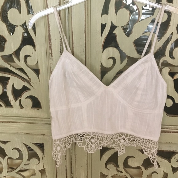 57efaaf79f Free People Tops - Free People FP ONE Geo Lace Bralette. Small