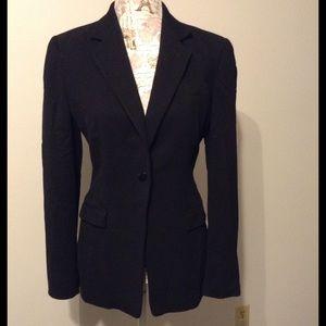Armani collezioni 1 button black blazer