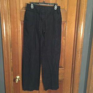 Black linen pants size 6
