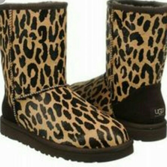 Limited Edition Leopard Print Calf Hair Uggs NWOT!