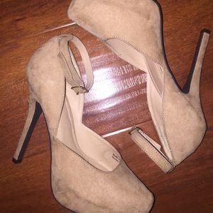 Brown suede f21 heels
