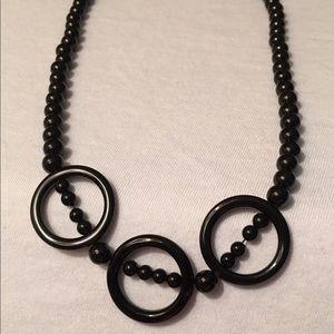 Onyx Sterling Silver Necklace Set