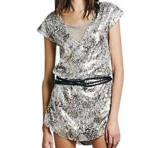 Free People Dresses & Skirts - free people metallic dress boho shattered glass M