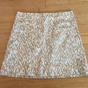 J.Crew printed gold skirt size 2