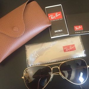 784ac07aeb6 Ray-Ban Accessories - Ray Ban Aviator Flat Metal RB3513 149 13 58-