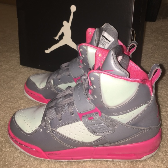 Jordan Shoes | Pink Grey Girls Jordan