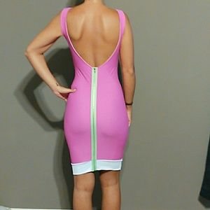 NWOTSexy fitted dress with a nonfunctional zipper