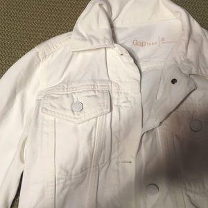 [WEEKLONG SUMMER END SALE]White Denim Jacket