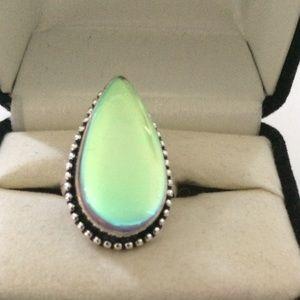 Handmade Jewelry - 🎀Sterling Silver 🎀 Handmade Aqua Mystic Ring